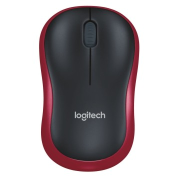 LOG MOUSE WIRELESS M185 - RED - 910-002237