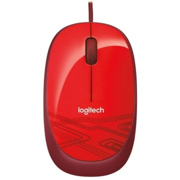 LOG MOUSE WIRED USB M105 - RED - 910-002945