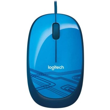 LOG MOUSE WIRED USB M105 - BLUE - 910-003114